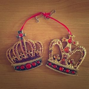 King and Queen ornaments